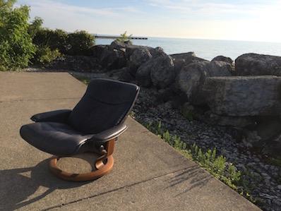 summer chair at the lake